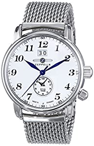 Zeppelin Men's Watch XL Analogue Quartz Stainless Steel LZ127 Graf 7644M1