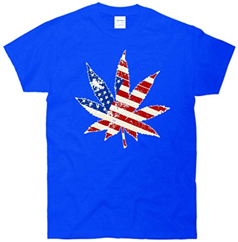 Vintage Weed American Flag 420 T-Shirt
