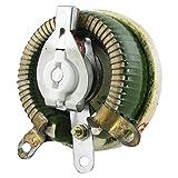 uxcell レオスタット 可変抵抗器 セラミック ディスク 巻線型 5Ohm 50W