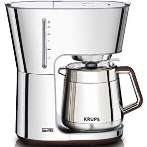 KRUPS KT600 Silver Art 10 European Cup Thermal Carafe Coffee Maker