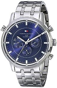 Tommy Hilfiger Men's 1790876 Sport Luxury Multi-Function Blue Dial Stainless Steel Bracelet Watch