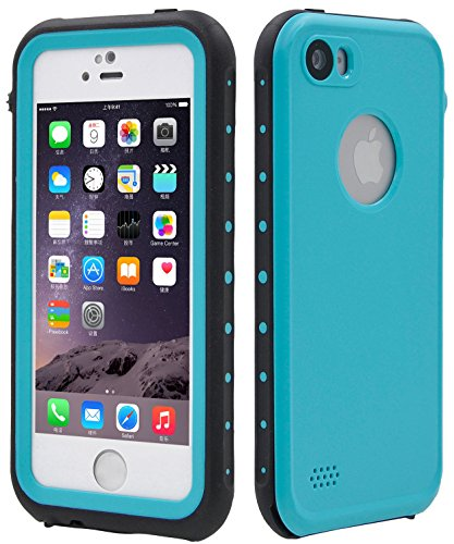 FULLLIGHT TECH iPhone SE Case,iPhone 5S case Waterproof Shockproof Full Body Cases Cover for iPhone 5/5S/SE with Touch ID & Built-in Screen Protector (Aqua Blue) (Jack Frost Iphone 5s Case compare prices)