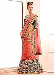 khazanakart Exclusive Designer Women's Brasso & Net Lehenga Choli