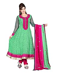Zohraa Green Faux Georgette Anarkali Suit Z1642PG-82