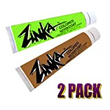 Zinka Colored Sunblock Zinc Waterproof Nosecoat 2 Pack Bundle .6oz Tube - Green Flesh