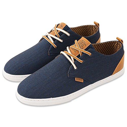 Djinns - LOW LAU GLEN CHECK - Low Top Sneaker - Blau-46