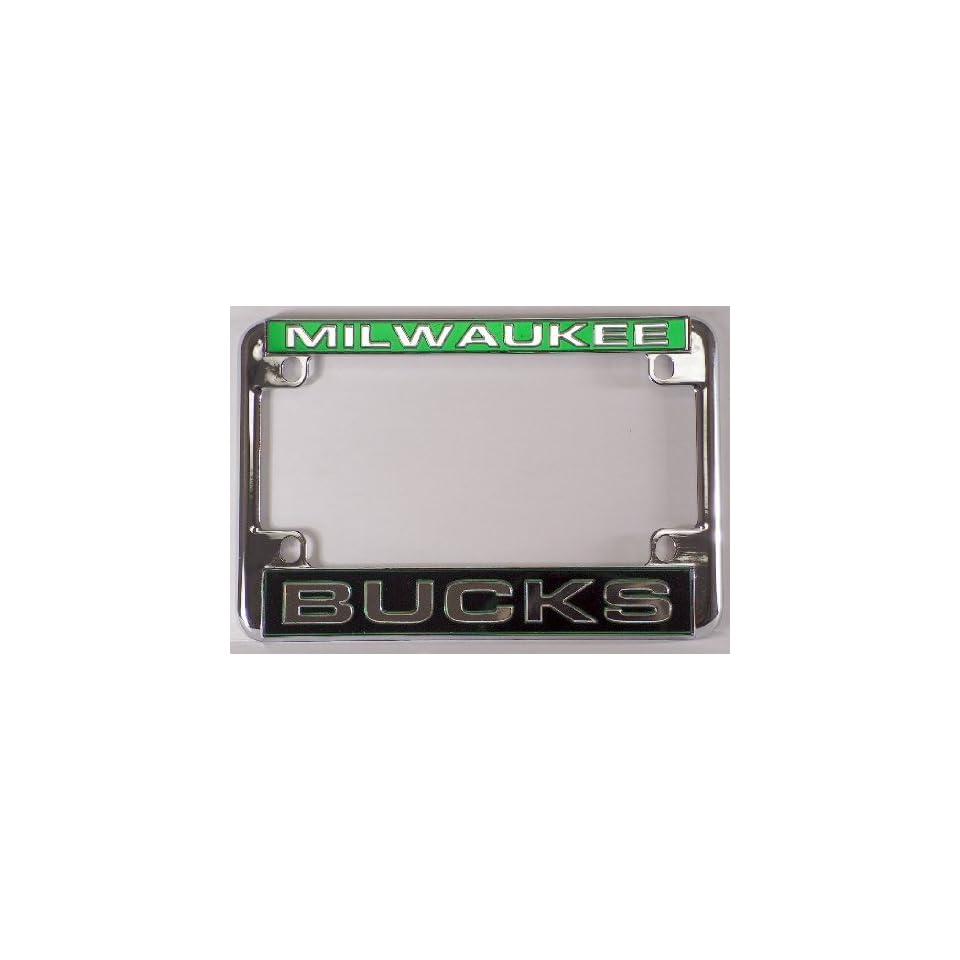 Milwaukee Bucks NBA Chrome Motorcycle RV License Plate Frame