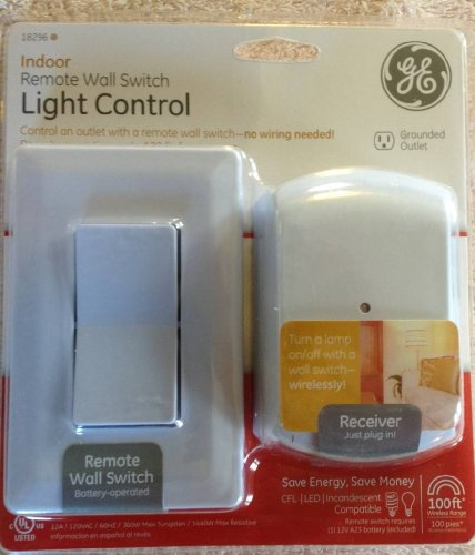 Remote Control Outdoor Wall Lights : Electrical Outlet Switches: GE Wireless Indoor Remote Wall Switch Light Control 18296