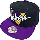 Mitchell & Ness Los Angeles Lakers LA Snapback Cap NZ01Z Triangle script and