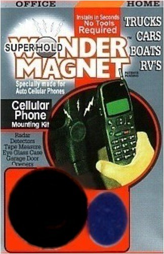 Super Hold Magnet Mount for Cell Phone, GPS, DVD, MP3, Radar Detector and more...Black