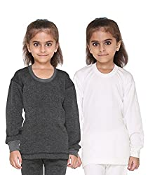 Vimal Premium Blended Multicolor Thermal Top For Girls(Pack Of 2)