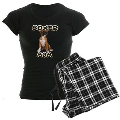 CafePress Boxer Mom Women's Dark Pajamas Women's Dark Pajamas
