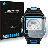 6x Screen Protector for Garmin Forerunner 920XT - Supreme Quality, Crystal-Clear, Bubble-Free