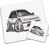 Personalised Koolart Daihatsu Charade Car Glass Table Mat Set