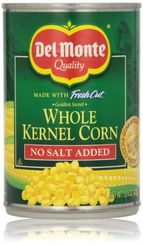 Del Monte Fresh Cut Golden Sweet Whole Kernel Corn, No Salt Added, 15.25 Oz