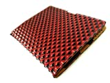 IPAD 2 Diamond Pattern Red Leather Case - Premium Quality