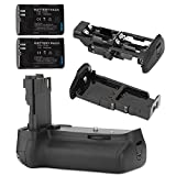 Neewer® Multi-Power Battery Grip BG-E9 + 2PCS Replacement Battery For LP-E6 Battery for Canon EOS 60D Cameras