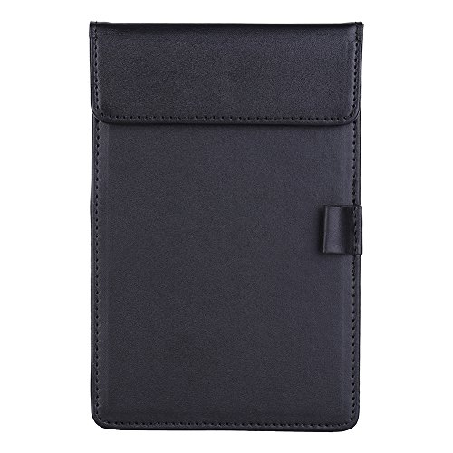 Yosoo Mini Leather Clipboard Folder Writing Portfolio Suit for Office Restaurant Hotel Hospital is a Great Conference Notepad Menu Folder Note with Page and Pen Clip (Hotel Desk Folder compare prices)