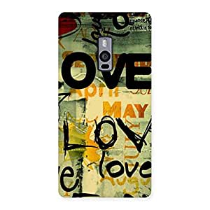 Special Love Typo Multicolor Back Case Cover for OnePlus Two