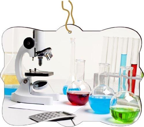 Rikki Knighttm Microscope Bright Color Fluid Bottles Design Tree Ornament / Car Rear View Mirror Hanger