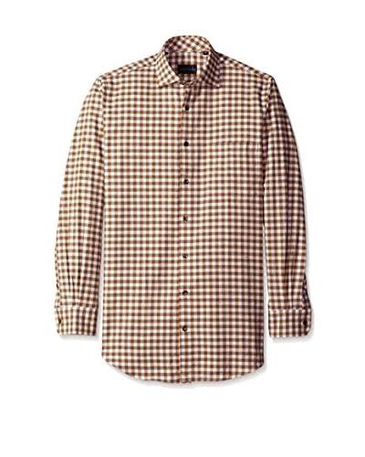 Bobby Jones Men's Lux Donegal Check Spread Collar Shirt