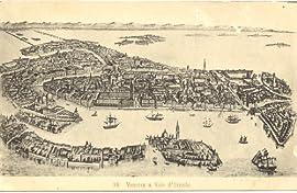 1910 Vintage Postcard - Bird's Eye View of Venice Italy