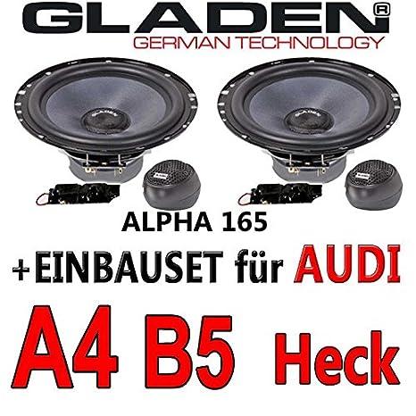 Audi A4 B5 Avant Heck - Gladen ALPHA 165 - 16cm Kompo-System - Lautsprecher Einbauset