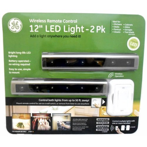 """Ge Wireless Remote Control 12"""" Led Light - 2 Pack"""