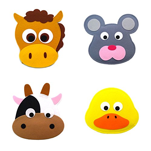 Animal Headband masks horse+mouse+cow+yellow duck
