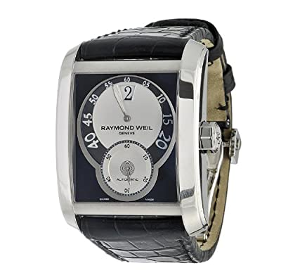 Raymond Weil Men's 4400-STC-00268 Don Giovanni Cosi Grande Stainless Steel Case Black Leather Strap with Crocodile Pattern Watch