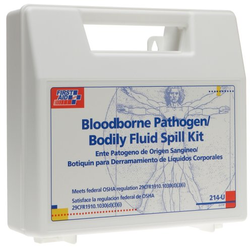 First Aid Only Bloodborne Pathogen Bodily Spill Kit, 21-Piece Kit