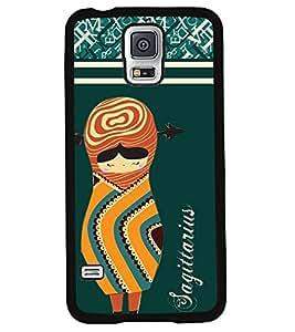 Printvisa 2D Printed Sunsign Sagittarius Designer back case cover for Samsung Galaxy S5 SM - N900I / N900F - D4409