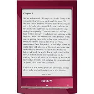 Sony eBook Reader PRS-T1 rouge 6""
