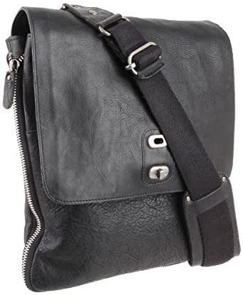 Will Leather Men's Otto Crossbody, Black, One Size
