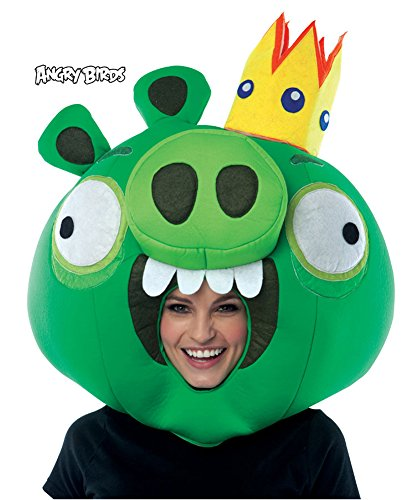 Angry Birds King Pig Green Mask Halloween Costume - Most Adults