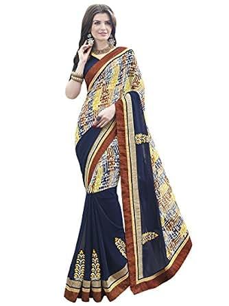 52f822f35f9 INDIAN WOMEN JACQUARD GEORGETTE FASHION SAREE price at Flipkart ...