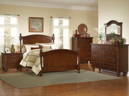 Aris 4 Pc Eastern King Bedroom Set By Homelegance In Brown Cherry front-730157