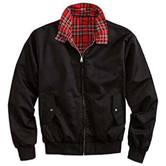 Surplus Homme reversible HARRINGTON Veste King George, Couleur: black, Taille: XXL