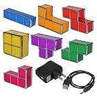 SODIAL(R) New Tetris Jigsaw Puzzle Constructible Retro Style Stackable LED Light Desk Lamp
