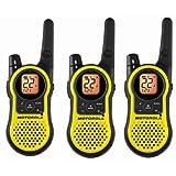 Paquete de 3 radios recargables Motorola MH230TPR de dos vías FRS/GMRS.