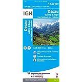 Ossau / Vallée d'Aspe / Parc national des Pyrénées : 1/25 000 (1547OT) (Carte de randonnée Top 25)