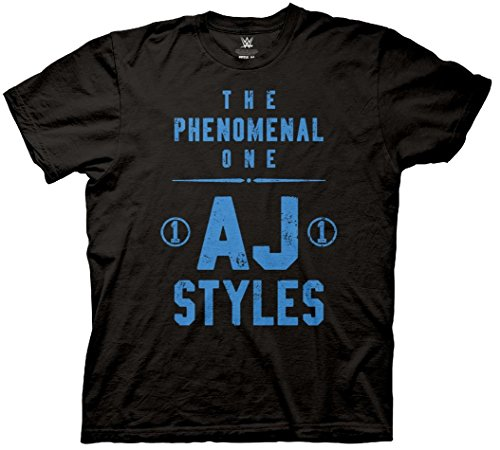 AJ Styles The Phenomenal One WWE Mens T-Shirt Black (Small) (Aj 1 Black compare prices)