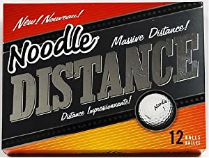 TaylorMade Noodle Distance Golf Ball 12pk White by Noodle
