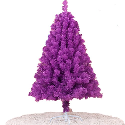 Purple Christmas Tree 4 Feet 218 Tips Encryption Iron Feet Decoration