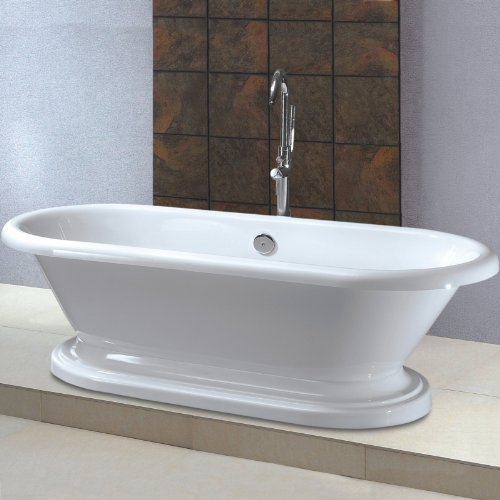 Trueshopping Roll Top Oval Freestanding Bath with Base