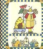 Folk Angel Greeting Card Organizer & Address Book