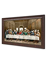 DecorArts -The Last Supper, Leonardo da Vinci Classic Art Reproductions. Giclee Print& Silver Museum Quality Framed Art for Wall Decor. 24x12\