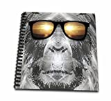 3dRose db_19405_2 Bigfoot In Shades Or Sasquatch Is Pictured in Style Wearing Sunglasses-Memory Book, 12 by 12