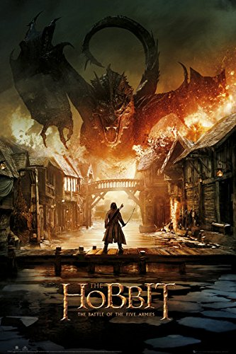 """1 X The Hobbit 3: The Battle Of Five Armies - Movie Poster / Print (Regular Style A / Smaug) (Size: 24"""" x 36"""") by Posterstoponline"""