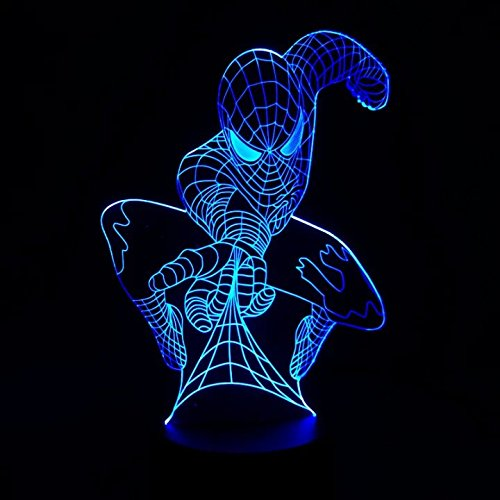 Marvel Spiderman 3D Illusion Night Light